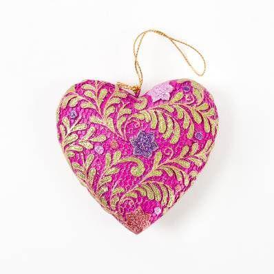 Ornament Heart Magenta