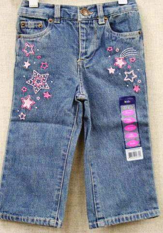 Falls Creek kids jeans with stars/heart designs
