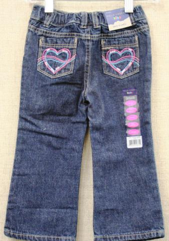 Falls Creek kids jeans with stars/heart designs