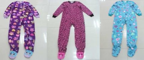 Recalled Circo girls' fleece pajamas