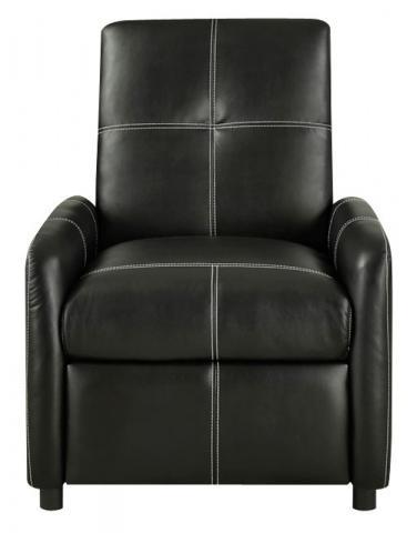 Hayward Push Back Chair – Black (Item  #HGB-805-2)