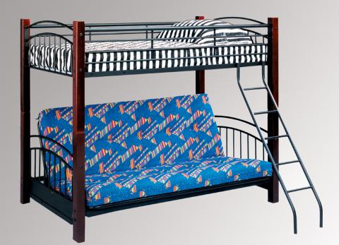 Twin over Futon Bunk Bed, model #344-54