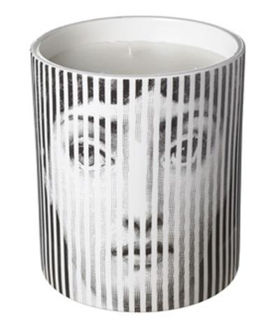 Black and white Striped Face scented candles