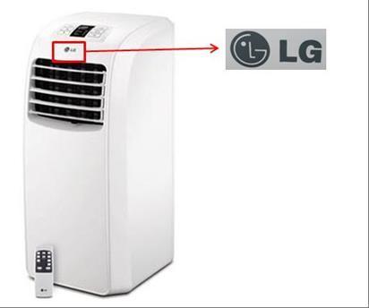 Location of LG logo