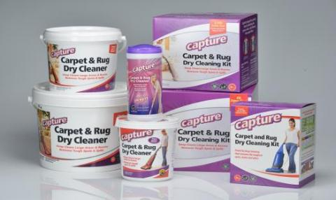Capture dry carpet cleaner