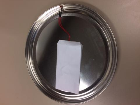 Sound chip inside of tin lid