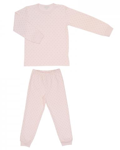 Children's two-piece pajama set in pink print