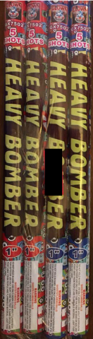 Heavy Bomber 5 Shot Roman Candles