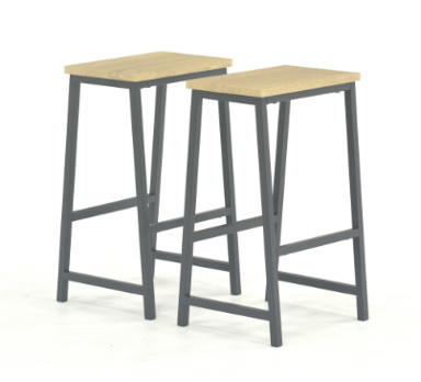 Recalled Sauder and Aliesha-May Counter-Height Bar Stools (set of two)
