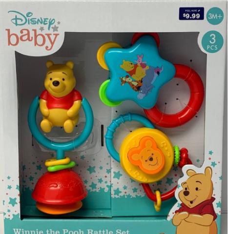 Walgreens Recalls Disney Baby Winnie the Pooh Rattle Sets Due to Choking Hazard