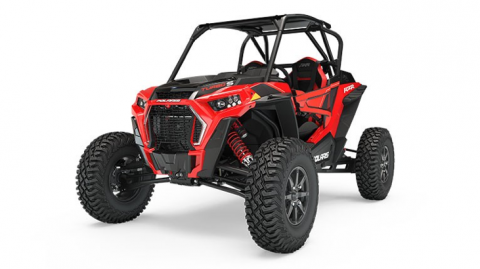 Recalled 2018 Polaris RZR Turbo S in Indy Red