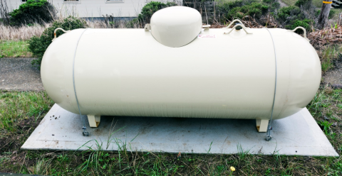 Example of a typical small storage tank