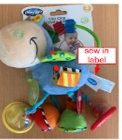 Sewn-in seam label location
