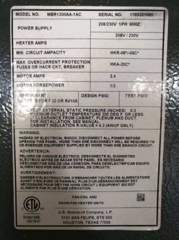 Incorrect Serial Number Label