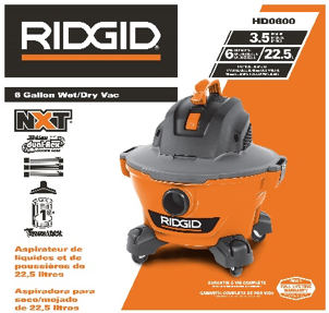 RIDGID NXT HD06000 packaging