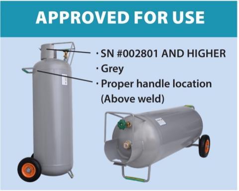 Recalled Hog 100-pound Propane Cylinder