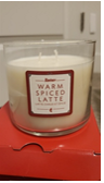 Recalled Melaleuca's Revive thee-wick warm spiced latte soy candle