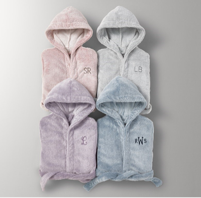 Recalled RH Heathered Plush Bath Wraps