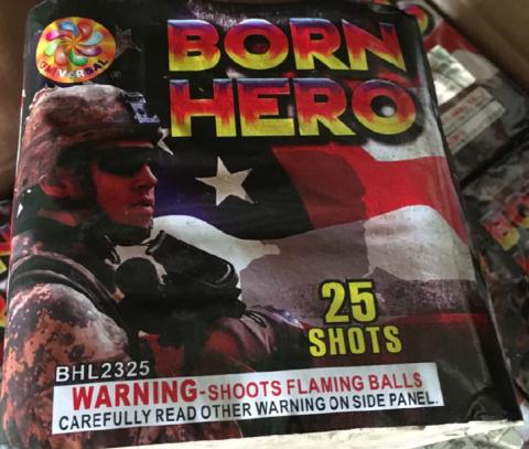 Born Hero 25 Shot Cake