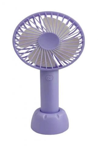 Recalled rechargeable handheld fan -purple
