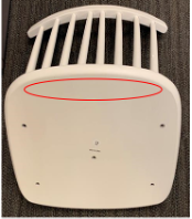 Only chairs without screw holes and wood screw on the underside of the chair seat base are included in this recall.