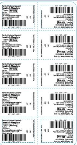 Recalled Dr. Reddy's Imatinib Mesylate Tablets 400 mg