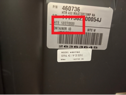 Serial number sticker