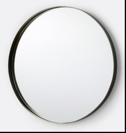 Recalled Deep Frame Mirror (Round)