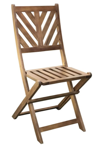 Jimco Outdoor Folding Bistro Chairs in teak finish