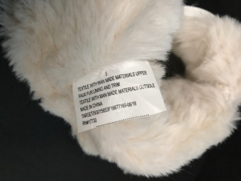 "Recalled Cat & Jack ""Chiara"" Boots inside tag with item number."