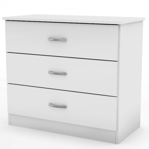 Libra Style 3 Drawer Chest In White