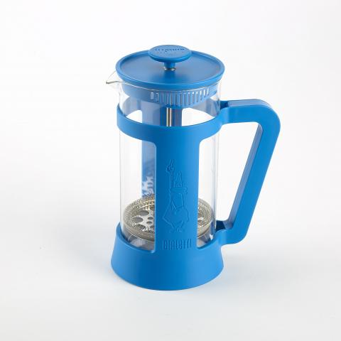 Bialetti coffee press in blue