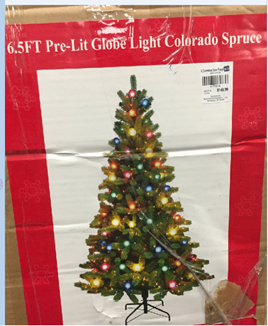 Nantucket Pre-Lit Globe Light Colorado Spruce Christmas Tree