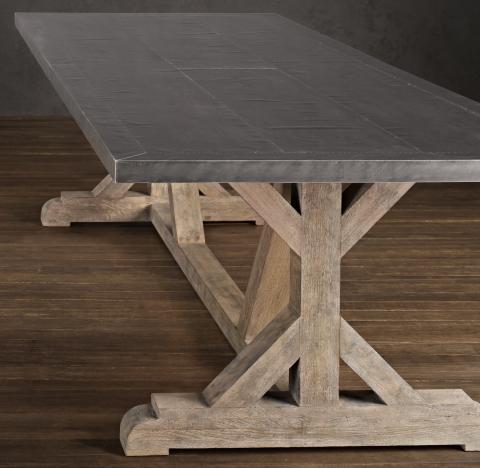 restoration hardware table. Railroad Tie Dining Table Restoration Hardware 0
