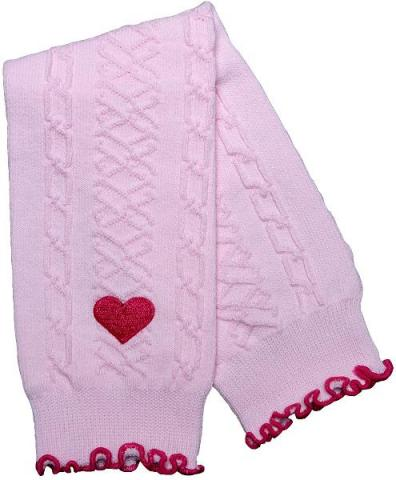 Baby Leg Warmers with Heart Appliqué