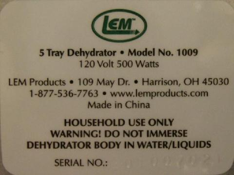 Label with Serial Number