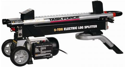 Recalled electric log splitter