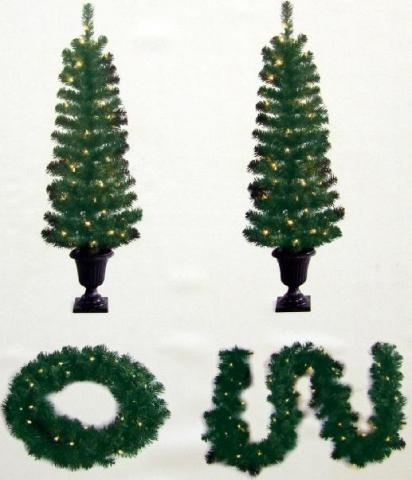 holiday tree wreath and garland set recalled by general foam plastic corp due to fire hazard
