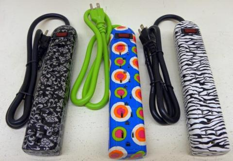 Brightly-Colored Power Strips
