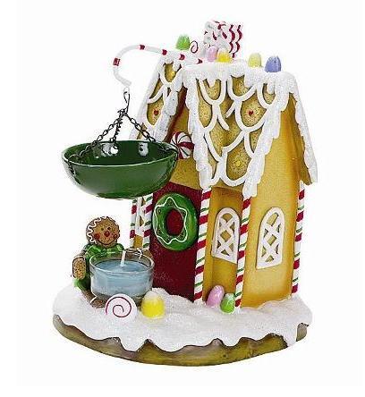 Gingerbread house tea light candle warmer