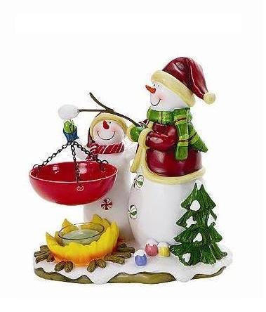 Snowmen tea light candle warmer
