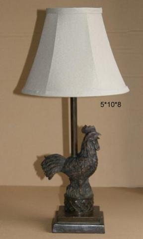 Rooster-themed lamp