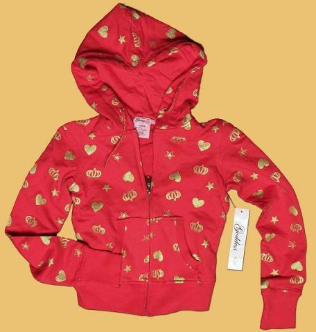 Girls' hooded sweatshirt with drawstring