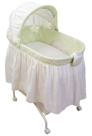 KB021-ARC- Tender Vibes Travel Bassinet (lime green cover)