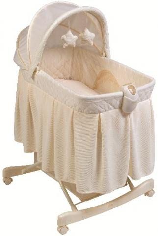 KB043-BNT1- Light Vibes Deluxe Rocking Bassinet