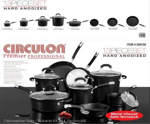 Circulon 13 Piece Cookware Set Recalled By Meyer Corporation Due To Laceration Hazard From Gl Lid Sold Exclusively At Costco