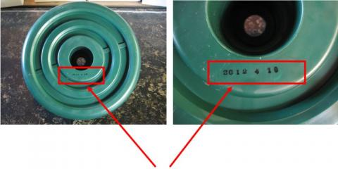 Date code located under swing seat