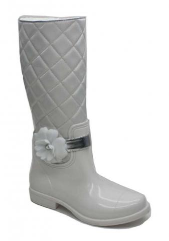 Cha Cha boots white
