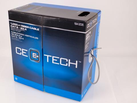 CE Tech 1000 ft. Riser Cable packaging