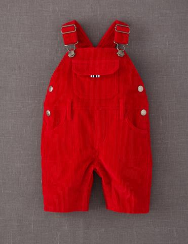 Red Mini Boden Chunky Cord Dungarees
